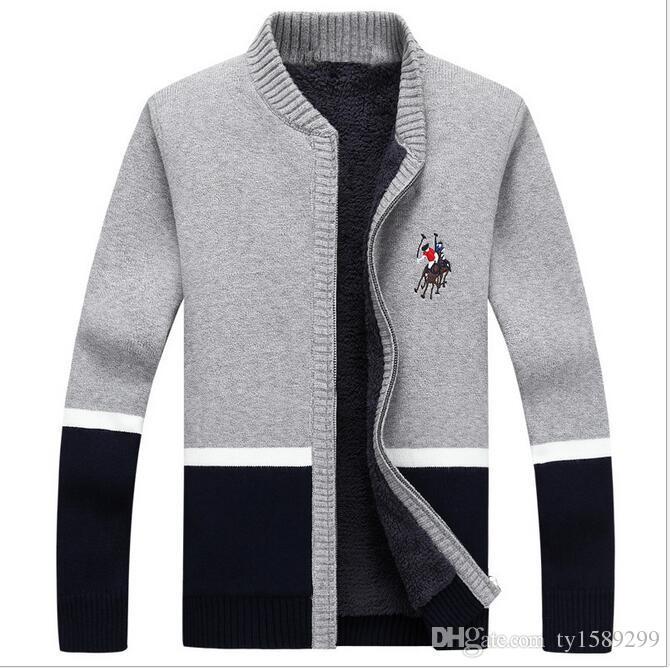 Men Striped Sweater 2016 Famous Brand Cardigans Zipper Sweater Men ...