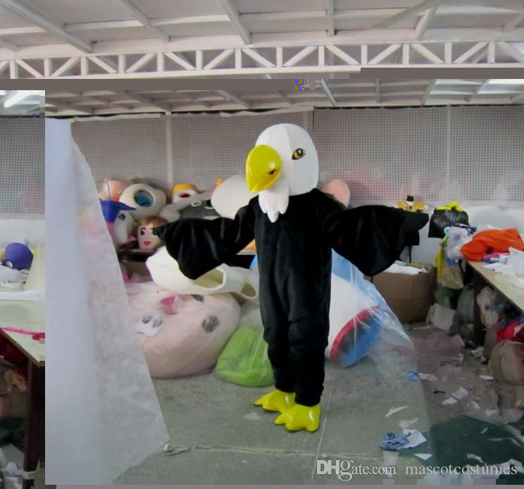 Lange bont Eagle Mascotte kostuums Fancy Dress voor volwassenen Gratis verzending Goede kwaliteit kan worden aangepast