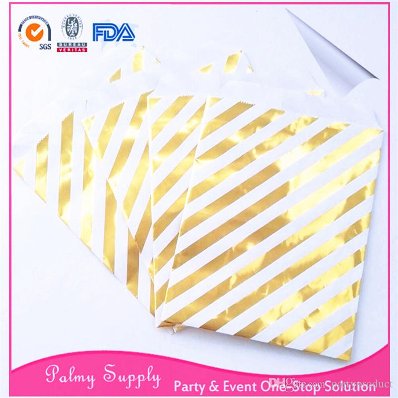 !!! Wedding party favor treat bags foil gold paper candy bags for baby shower/birthday party/Xmas