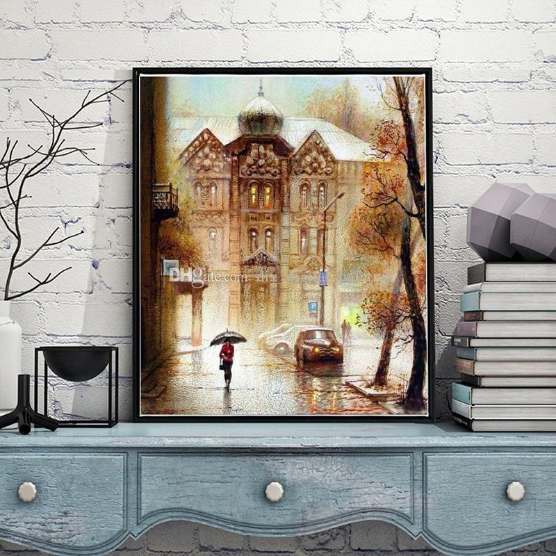 2019 Russian Castle Diy Oil Painting By Numbers Kits Wall Art Home Decor Acrylic On Canvas For Work Of 40x50cm From