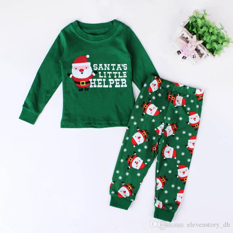 2 à 7 ans Automne bébés garçons et filles Noël à manches longues enfants père Noël définit les vêtements, automne, 2AA802CS-04, [ElevenStory_DH]