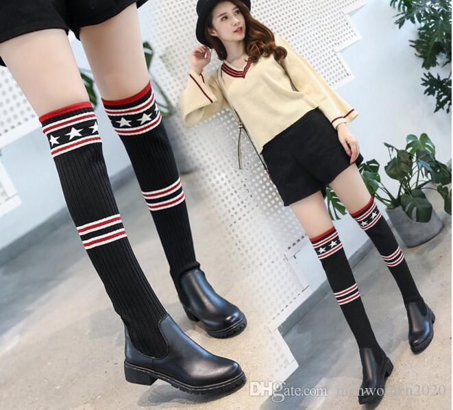 04974585aee Wholesale Hot Sale Ladies Girls College Style Boots Women Punk Knee High  Sneakers Fashion Causal Shoes Gothic Lace Up Boots Girls Boots Black Ankle  Boots ...