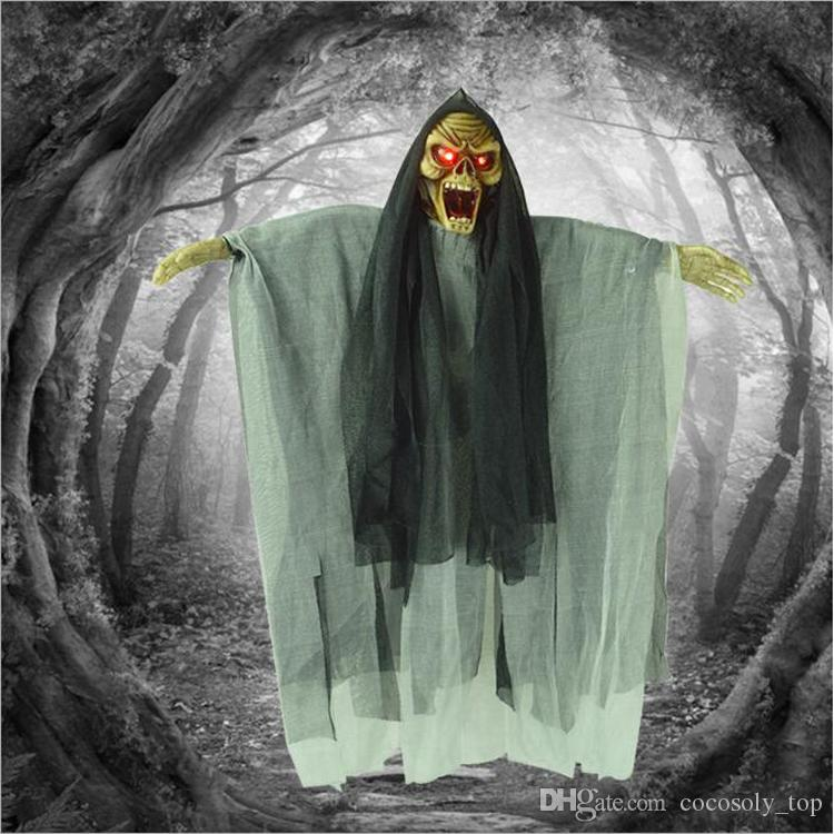 New Halloween Prop Hanging Ghost Witch Scary Haunted House