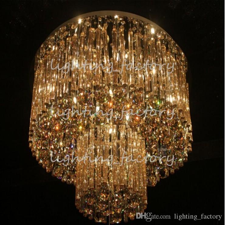 new item luxury crystal lamp Dia800*H360mm modern lustre crystal chandelier lighting hotel lobby light