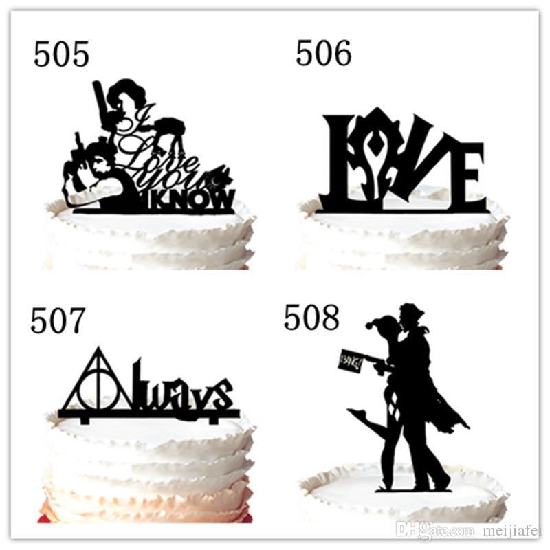 Wedding Cake Topper - mariée et le marié avec ballon pour la décoration du gâteau, 37 couleurs pour l'option Livraison gratuite