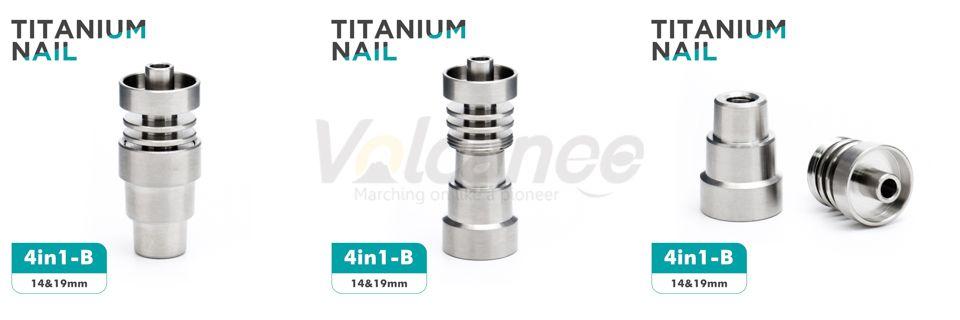 Domeless Grade Titanium Nail 10mm 14mm 18mm Female Male Joint 2 IN 1 4 IN 1 6 IN1 Domeless Spiral Titanium Nail