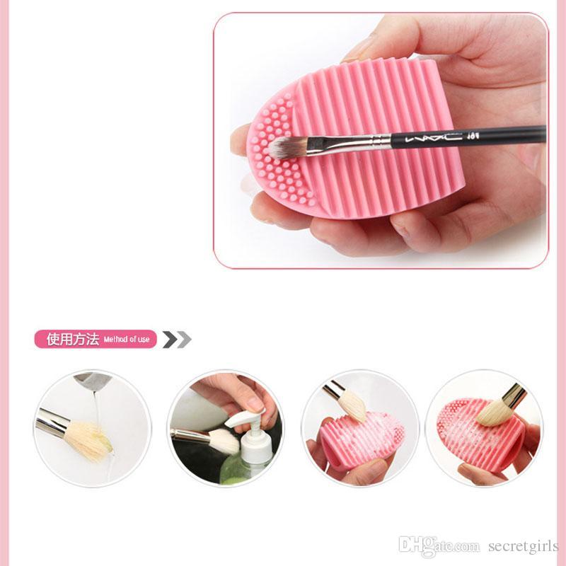 Brushegg Clean brushes pinceau de lavage de maquillage Silica Glove Scrubber Outils de nettoyage cosmétiques Made beauté pour les pinceaux de maquillage