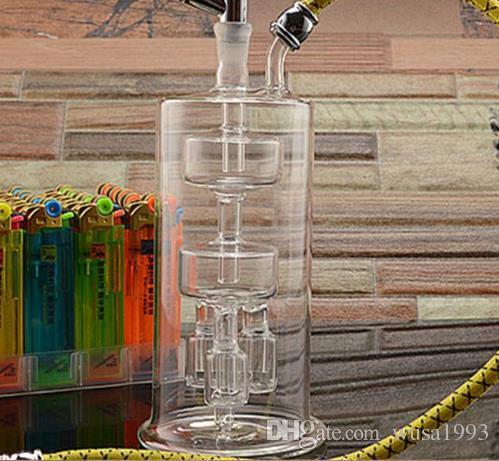 No próximo narguilé de vidro de três mandíbulas, cor de entrega aleatória, canos de água, bongos de vidro, vidro Hookahs, cachimbo