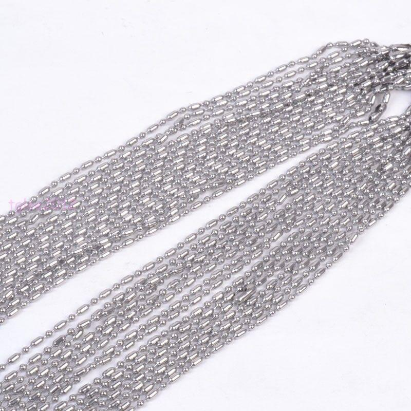 Details about Wholesale 2.4mm Balls Chain Stainless Steel DIY Jewelry For Necklace In Bulk