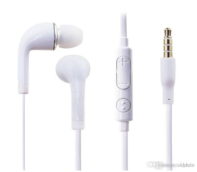 In-Ear Earphone with Volume control and MIC 3.5mm Headphone For Samsung Galaxy S3 S4 S5 Note 2 3 Free DHL
