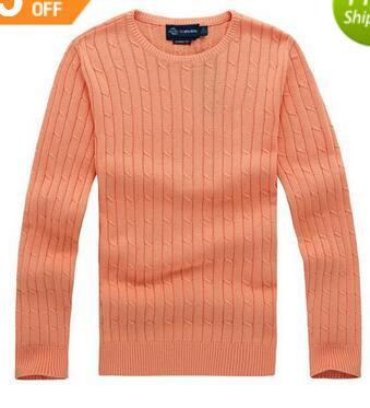 2018 new high quality mile wile polo brand men's twist sweater knit cotton sweater jumper pullover sweater Small horse game