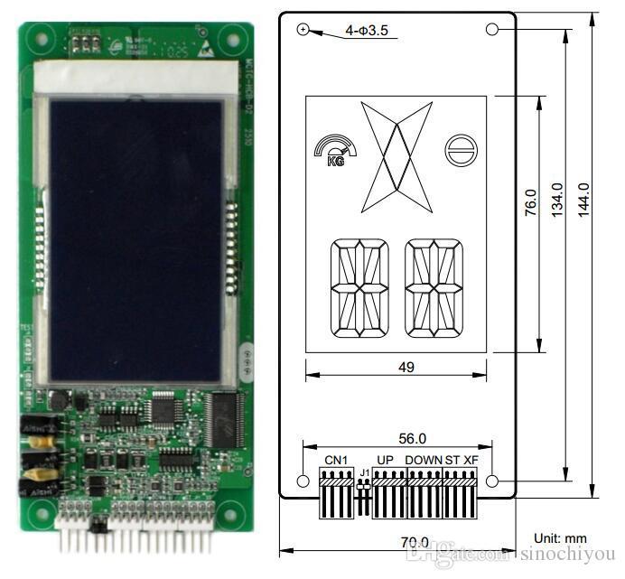 El elevador Monarch parte el indicador de panel de visualización LCD COP LOP original MCTC-HCB-D2 para el sistema de control Nice3000