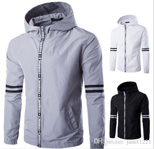 Hoodies Mens Autumn Jackets Long Sleeve Letter Personalize Plus Size Mens Jacket Overcoat Wild Fashion Cotton Overcoat For Men J160902