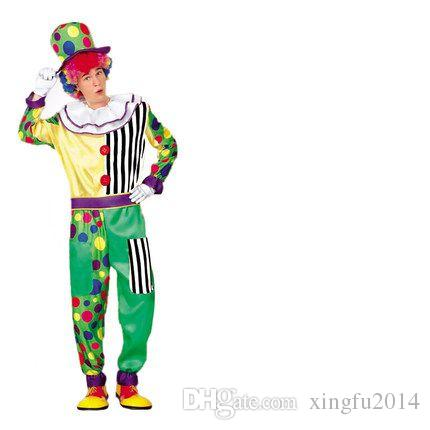xingfu2014 Halloween masquerade clown magician tuxedo suit adult costume party clown funny clown costume party cosplay 2017