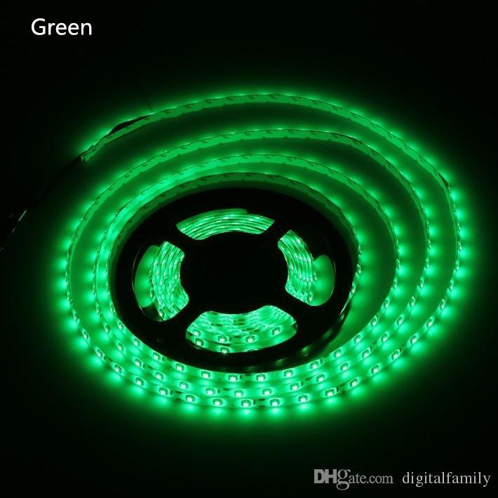 50m 50 Meter Warm Wit LED Strip Licht LEIDEN LIBBON 3528 SMD 5M Waterdicht Flexibel 300LED met Connector 2A Voedingstekker via DHL FEDEX