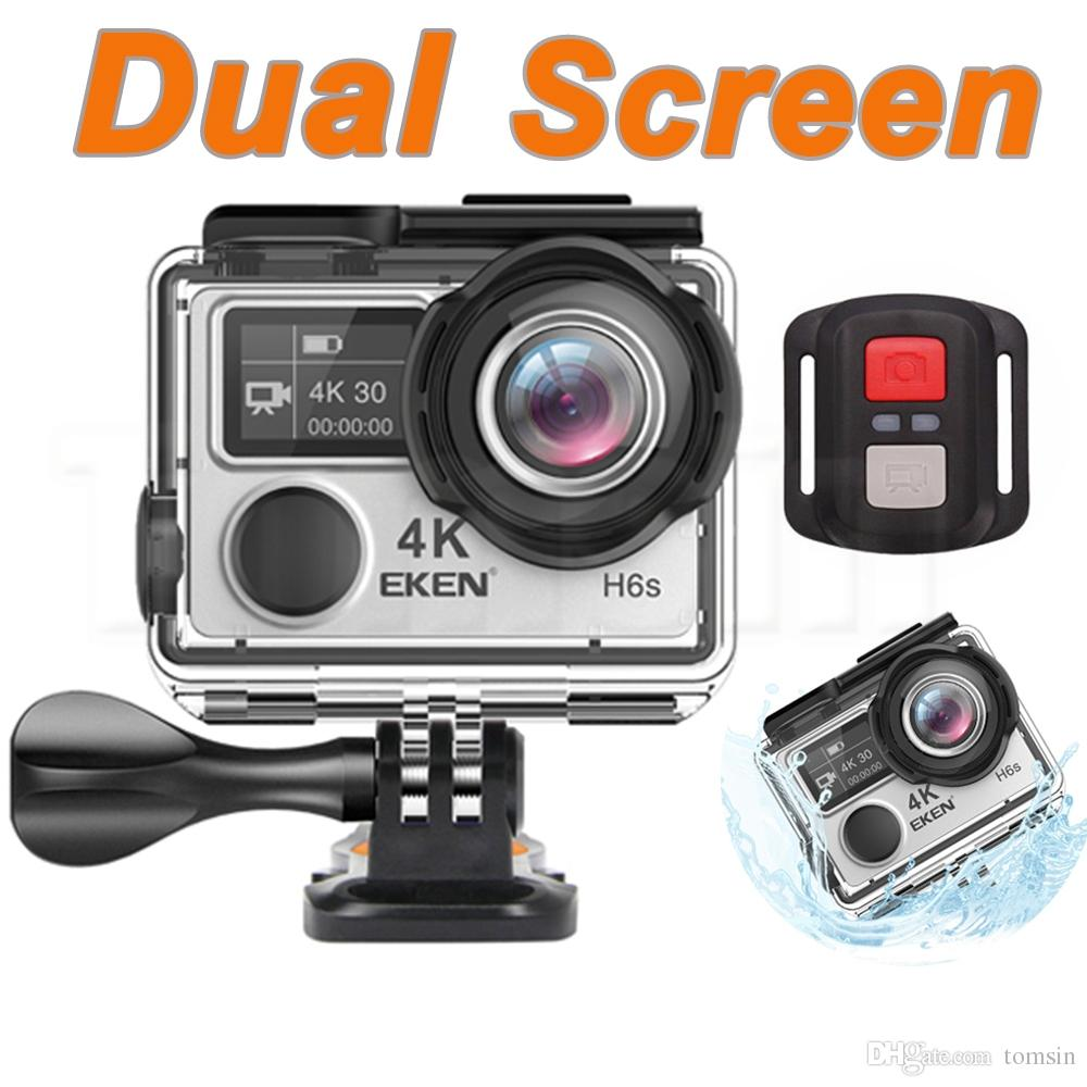 Original Eken H6s Ultra Hd 4k Full Time Eis Waterproof Action Sports Sport Cam With Remote Camera Wifi Hdmi