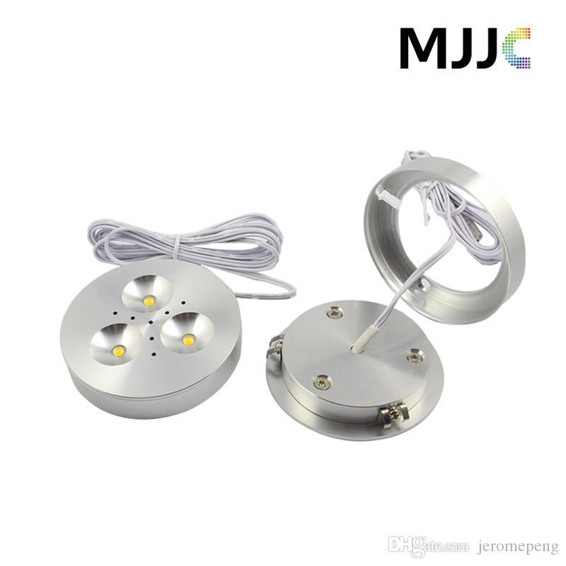 12V DC 3W Dimmable LED Downlights Under Cabinet Light Puck Lights Ultra Bright Warm White,Natural White,Cool White for Kitchen Lighting