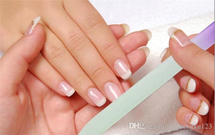 Prego 9cm vidro Arquivos Durable prego cristal arquivo de buffer Nail Care 6 cores doces D896