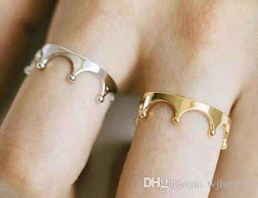 Fashion 18k gold plated rings noble small crown rings for women Wholesale