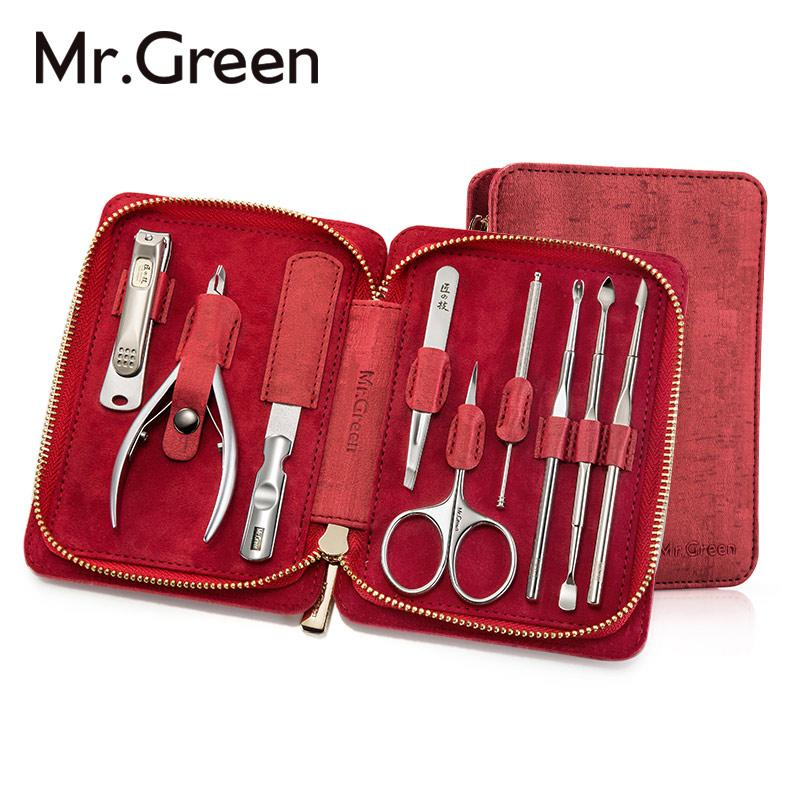 Mr .Green 9in 1manicure Set Professional Stainless Steel Nail ...