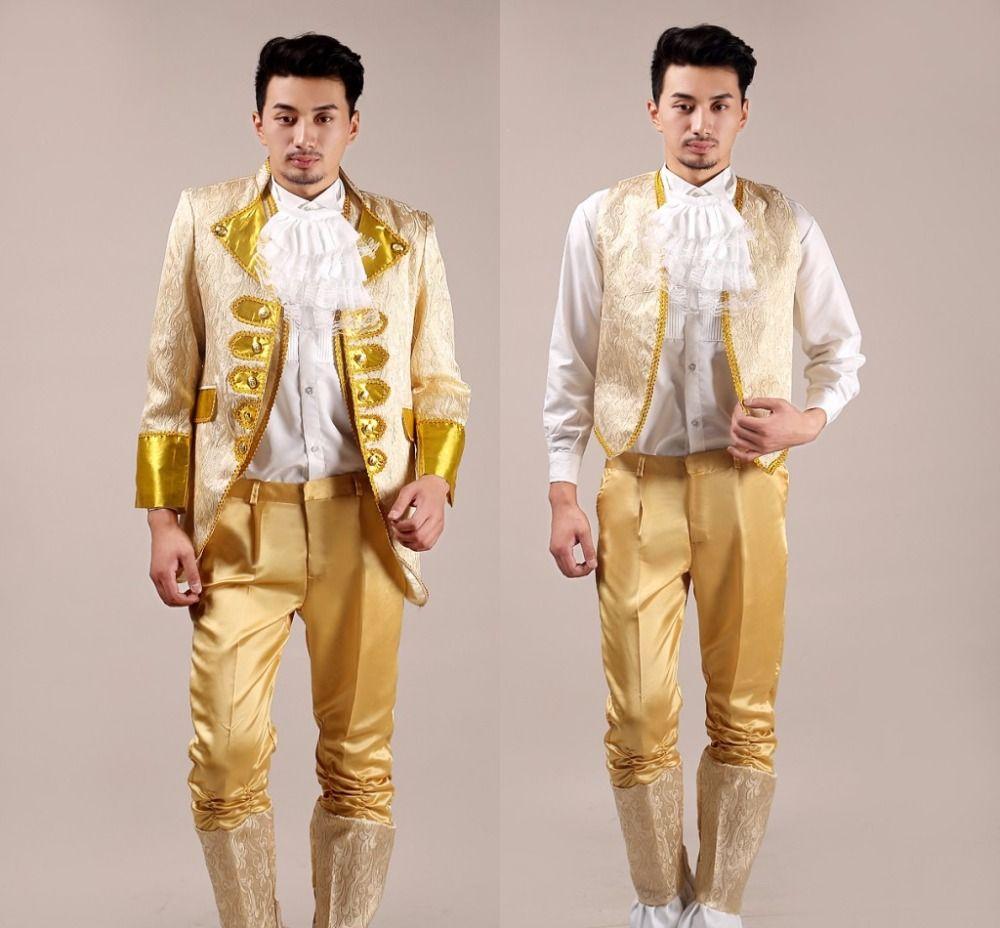 Jacket +vest+pants Suit Male Costume Men\'s Suit Wedding Dress ...