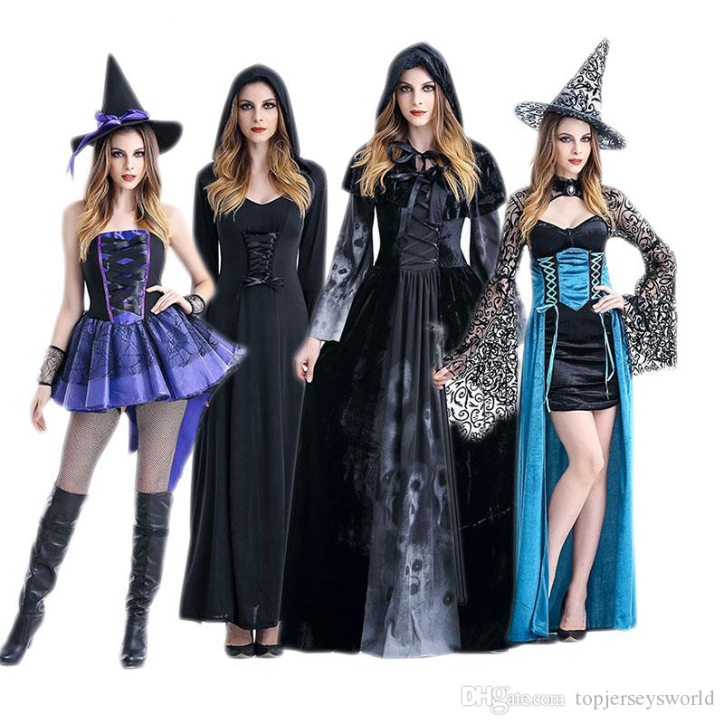 female adult halloween costume masquerade costume vampire witch spider witch dress cos anime costumes for 8 people costumes for five people from - Spider Witch Halloween Costume