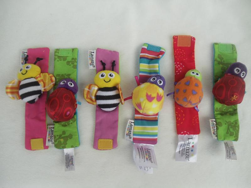 Lamaze wrist rattle foot finder baby toy wrist rattle+foot sock toddler Infant Plush toys