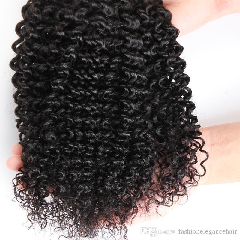 غير المجهزة 7a البرازيلية الشعر موجة عميقة 3/4 قطع الكثير البرازيلي غريب مجعد الشعر التمديد الإنسان لحمة الشعر 10