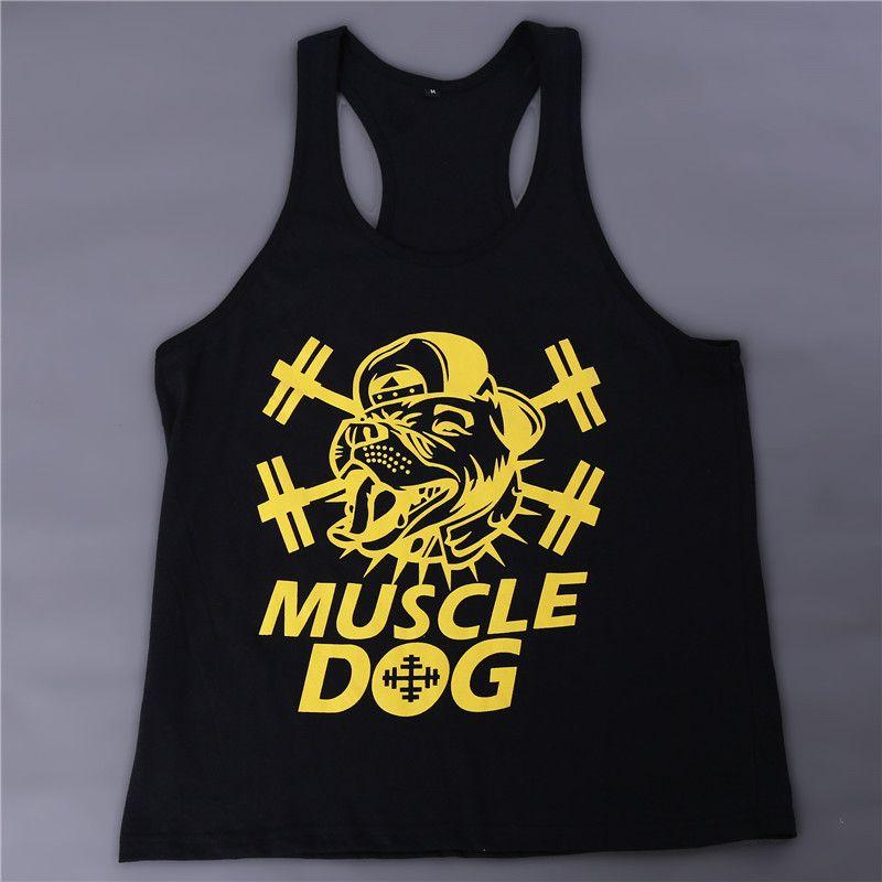 cb5dabcf9a143 2019 Wholesale Gym Singlets Men Tank Tops Shirt Bodybuilding Equipment  Fitness Men S Gym Tank Top Black White Sports Clothes M XXL DP869500 From  Jinzhong