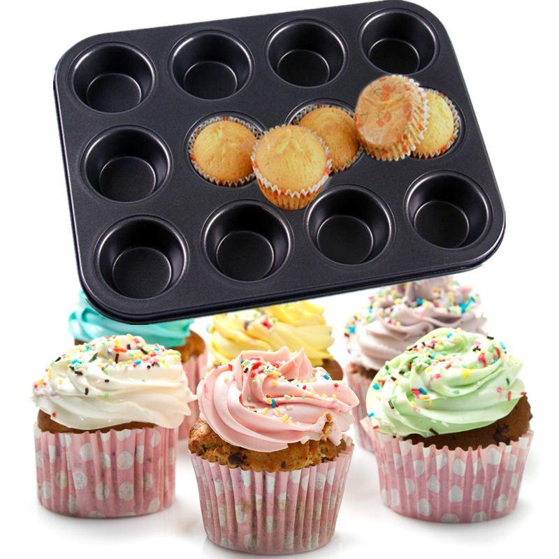 Stainless Steel Cupcake Baking Tray 12 Mini Cup Cupcake