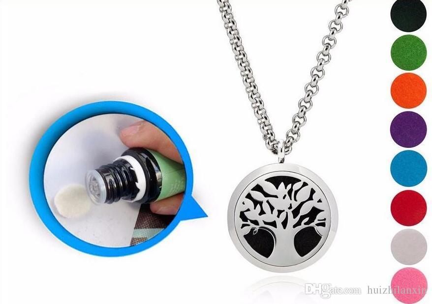 5 piezas de plata hoja de arce aromaterapia medallón collar colgante 316l de acero inoxidable aceite esencial difusor collar colgante con almohadillas cadena