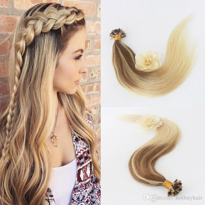 U Tip Hair Extension Human Hair Extensions Balayage Color 2 Fading
