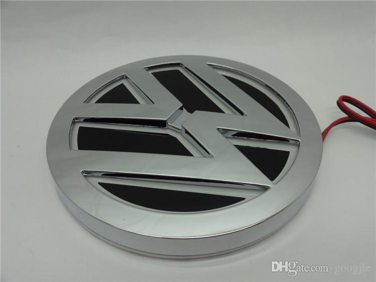 5D led araba logosu lamba 110mm VW GOLF MAGOTAN için Scirocco Tiguan CC BORA araba rozeti LED semboller lamba Oto arka amblem işık