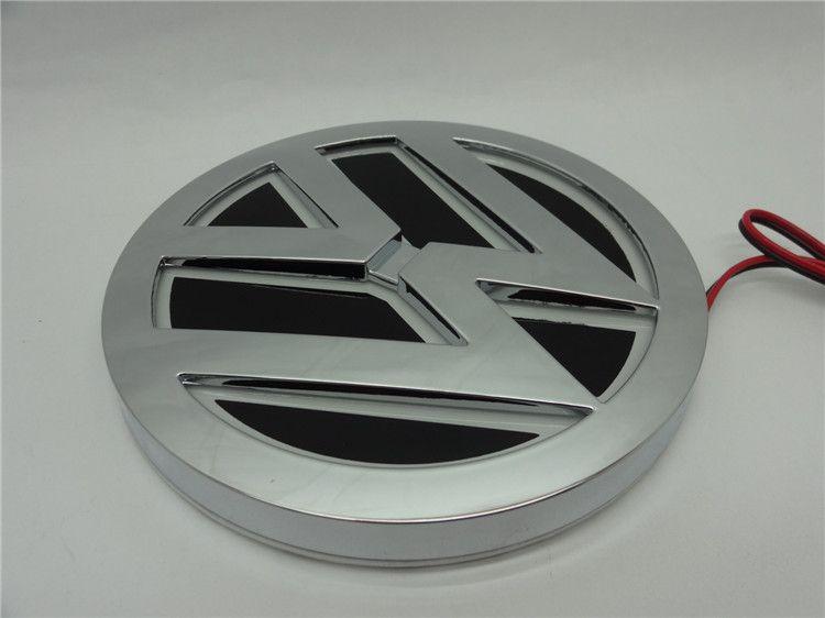 5D llevó la lámpara del logotipo del coche 110mm para VW GOLF MAGOTAN Scirocco Tiguan CC BORA insignia del coche LED símbolos lámpara Auto emblema trasero luz