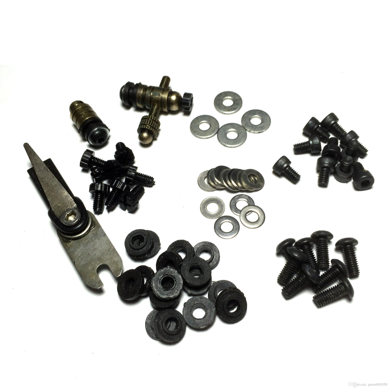 Máquina de tatuaje Bobinas Kit de reparación de pistola con tornillos de barra de armadura de poste de unión arandelas 1606 Envío gratis BJT