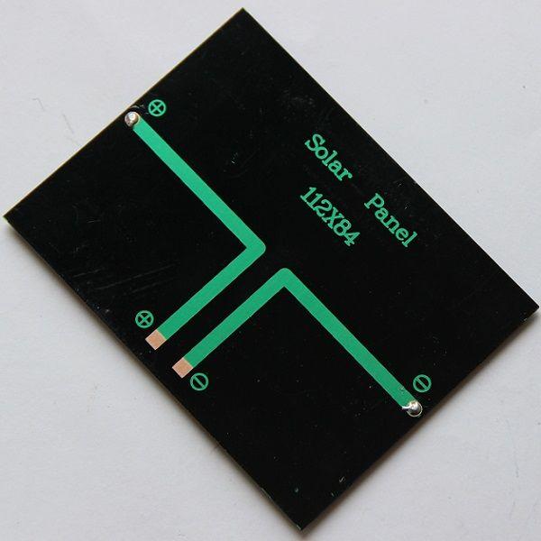 뜨거운 고품질 1.2W 6V 작은 태양 전지판 Pocrystalline 실리콘 태양 전지 DIY 태양 전지 단위 교육 장비 에폭시 자유로운 선박