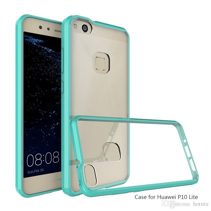 Huawei P9 Lite için Kılıf Hava Yastığı Tech Yumuşak TPU Tampon Temizle Arka Kapak Hibrid Zırh Telefon Kılıfları Için Huawei P10 Lite Artı