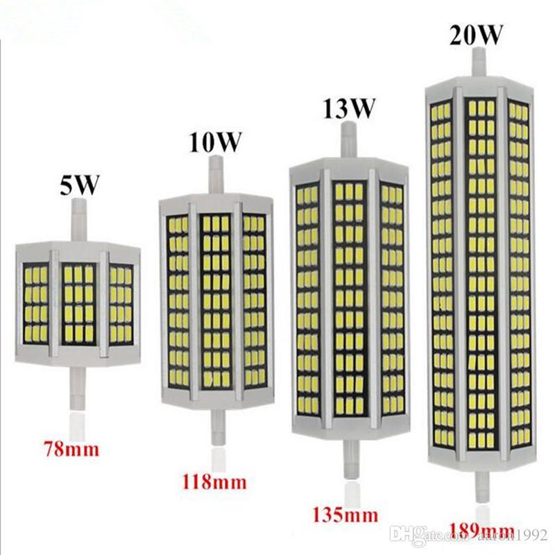 Großhandel R7s Led 118mm 20 Watt Bombillas Led Lampe 220 V 78mm 5733