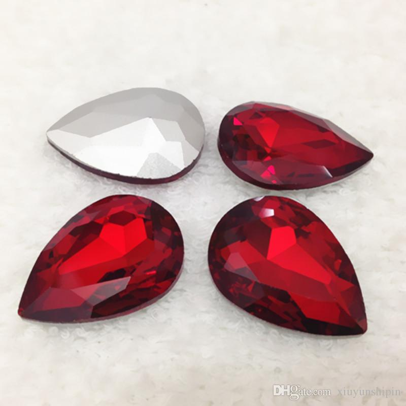 Wholesale 1000pcs/bag 4x6mm Pear Drop Pointed Back Glass Crystal Fancy Stones Teardrop More Colors For Jewelry Making