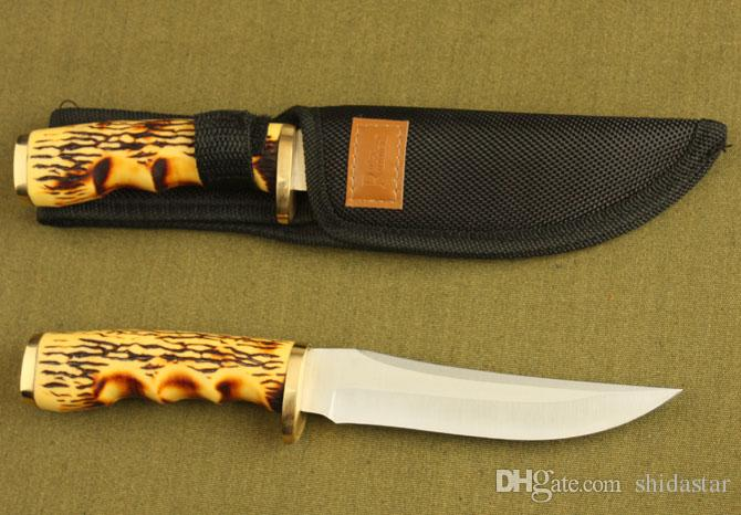 Browning Fixed Blade Knives 440C 56HRC Steel Bone Handle Tactical Camping Hunting Survival Pocet Utility Military EDC Tools Man Collection