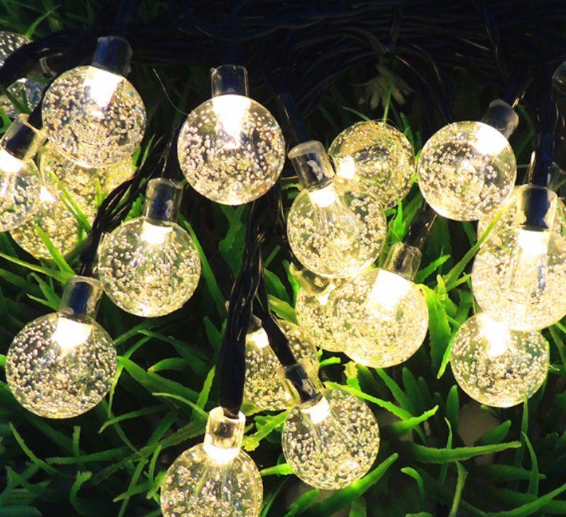 Luci a LED solari Halloween Christmas Decoration Lamp Festival Natale Outdoor Light String Tree Decor con batteria