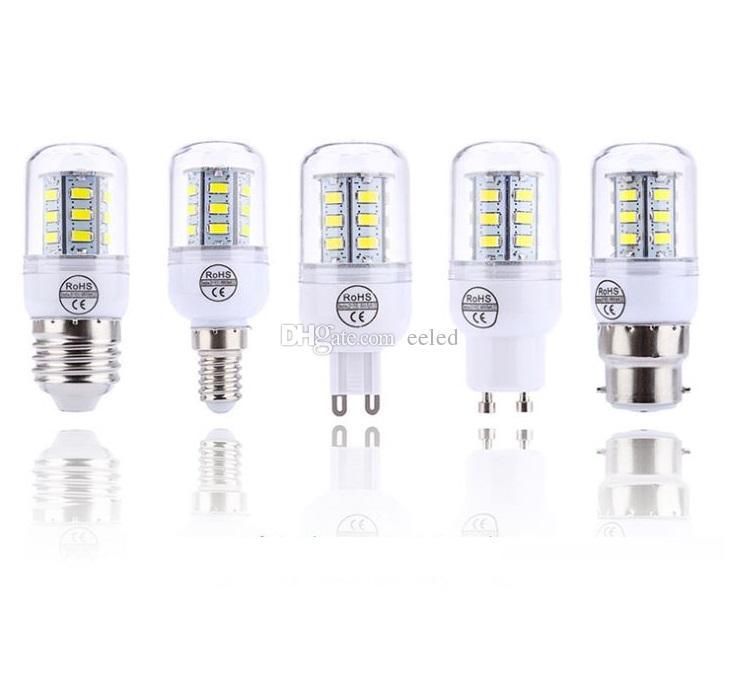 Energy Saving Corn Bulb LED 5W E27 E14 G9 5730 SMD 24 LED 360 Degree Chandelier Candle Light Crystal Light 220V 110V
