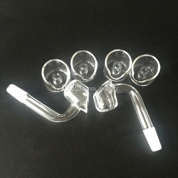 DHL Free 4mm thick club domeless quartz banger nail + quartz carb cap 100% real quartz nails for Glass Smoking pipes