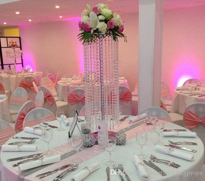 / Acryl Kristall Hochzeit Herzstück / 60cm hoch / Blume Stand / Tabelle Dekor / Hochzeit Versorgung