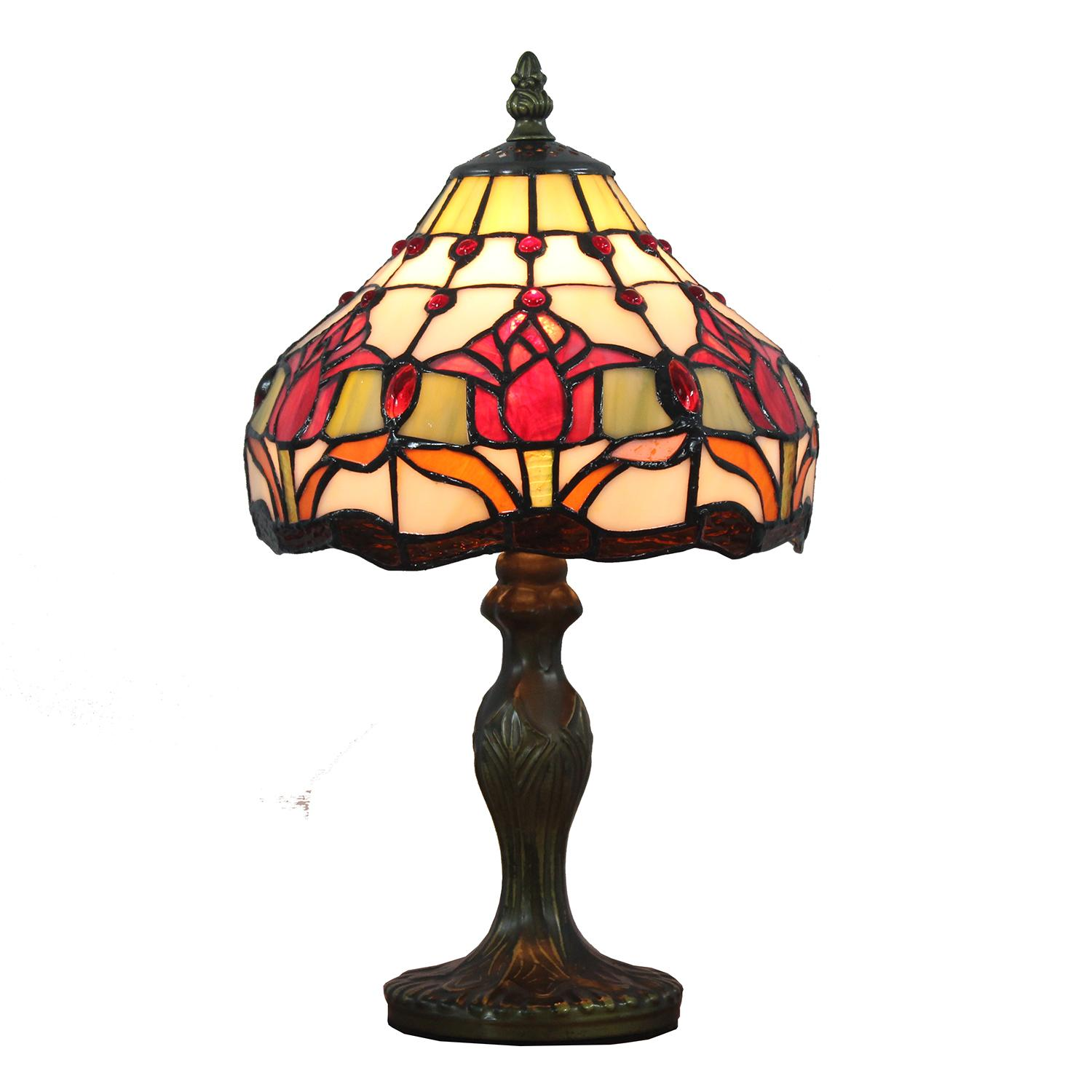 8 inch floral tiffany tulip table lamp stained glass light home 8 inch floral tiffany tulip table lamp stained glass light home hotel floral tiffany iris table lamp stained glass modern bedside desk light online with aloadofball Images