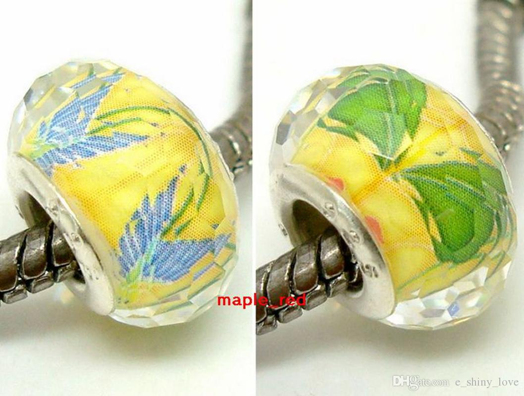 / entwerfen ringsum großes Loch-facettiertes Harz-Charme für die Schmucksache-Herstellung, die lose silberne Kern DIY Korne europäisches Armband / Halskette passt