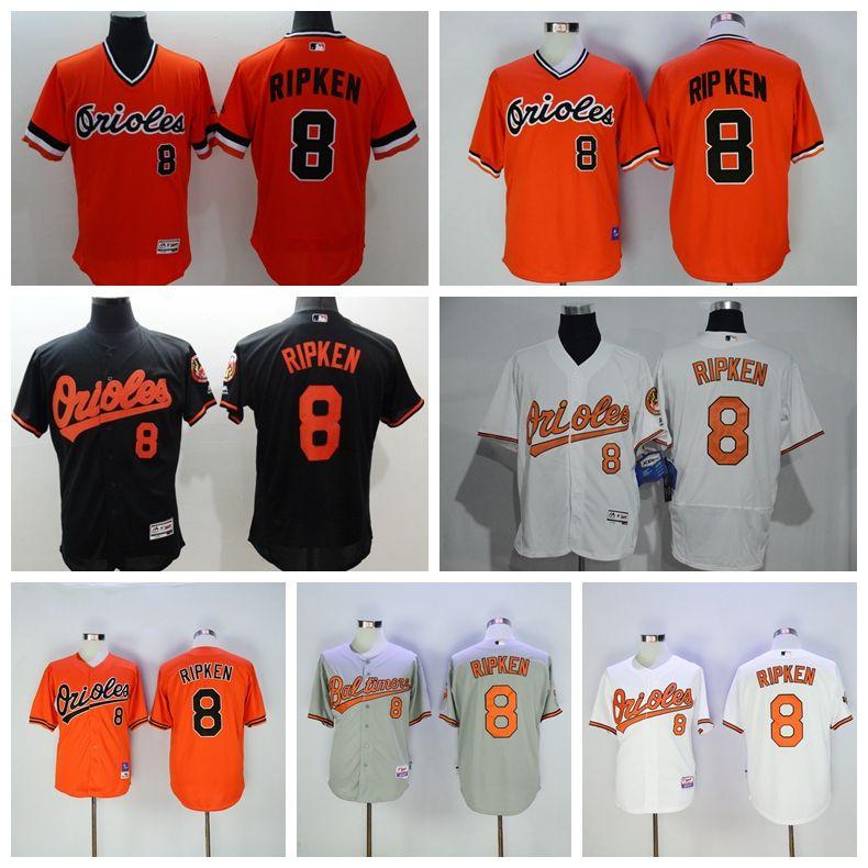 classic fit 10f86 00a42 baltimore orioles 8 cal ripken 1989 orange mitchell ness ...