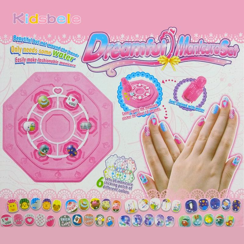 2018 Girl Nail Stickers Diy Kids Toys For Children Pvc Manicure ...