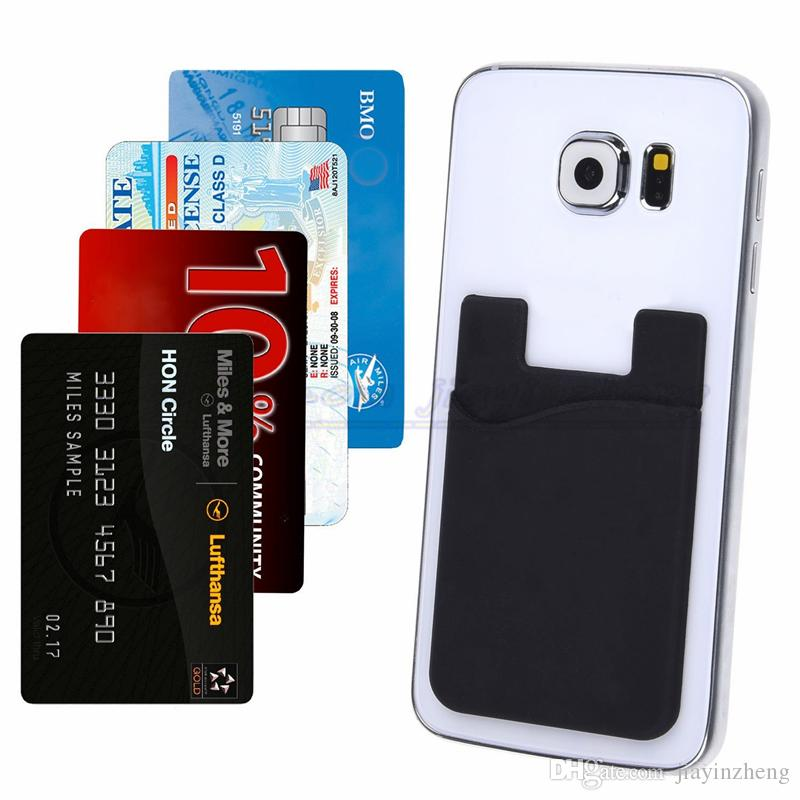 Wallet Phone Case Wallet card holder Smart Wallet Of Silicone phone wallet Universal 3M Sticky Phone Wallet Credit Card Holder OEM In stock