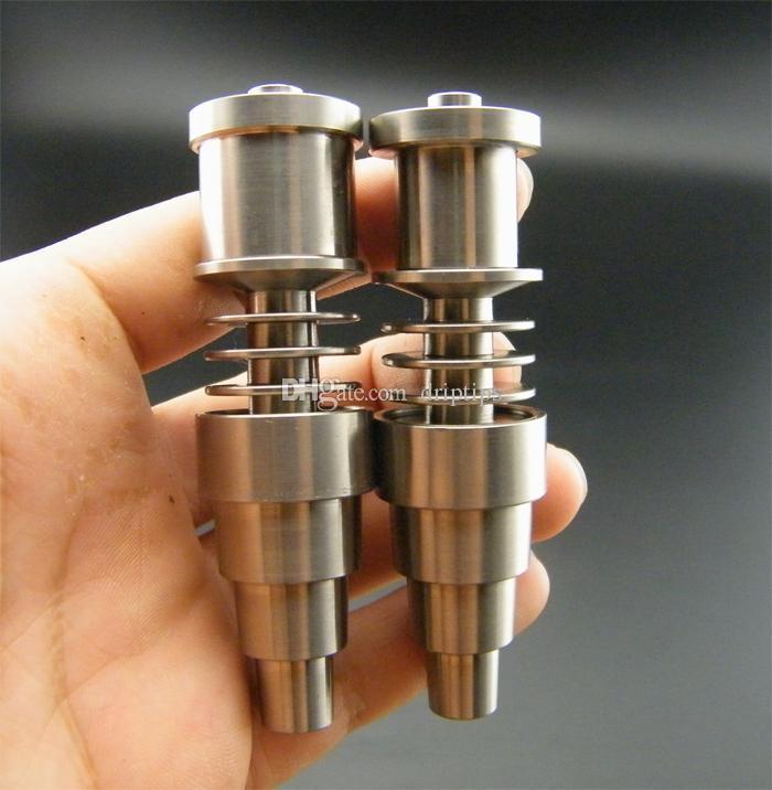 10 Pz GR2 Titanium Nail 10mm 14mm 18mm Regolabile Domeless Enails Maschio Femmina Comune 16mm o 20mm Eilina Bobina DHL libero